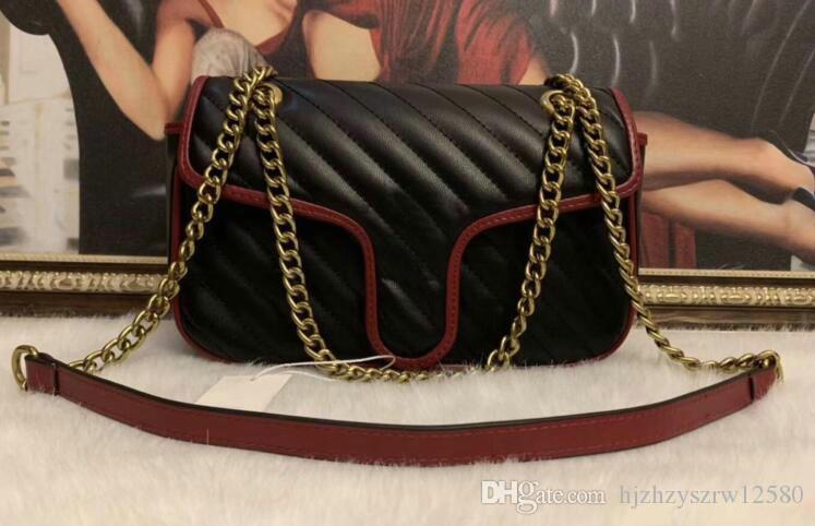 النساء المصممات ذوات الجودة العالية مارمونت حقائب اليد حقائب جلدية حقيبة سلسلة أكياس الكتف المتقاطعة مرسال Tote حقيبة نساء 5colors