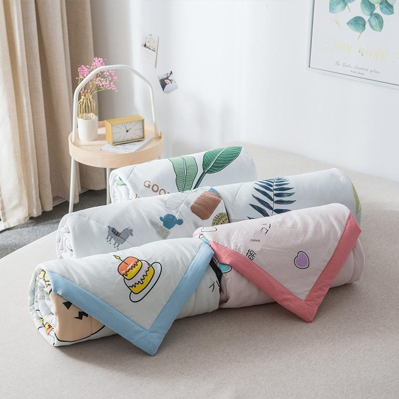 2020 washed cotton students summer office air conditioning quilt Children single summer quilt