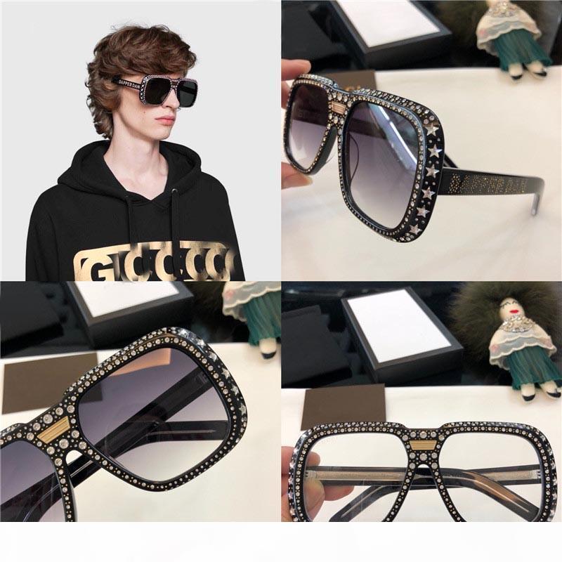 Sonnenbrille 0247 Glänzende Diamanten Designrahmen populärer Schutz Sonnenbrille hochwertige Art und Weise Sommer-Art für Mann und Frauen Verkauf