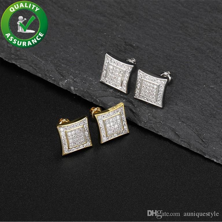 Designer orecchini gioielli di lusso moda donna mens orecchino orecchino hip hop diamante orecchini ghiacciati cz 925 sterling argento fascino regalo di nozze