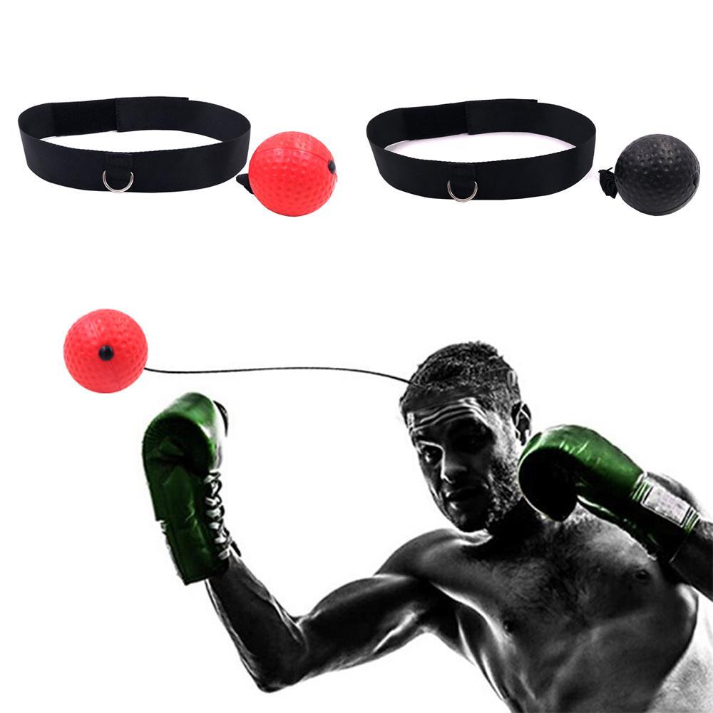 Muay Thai Hand Eye Training Ball Boxing Reflex Speed Ball with Headband