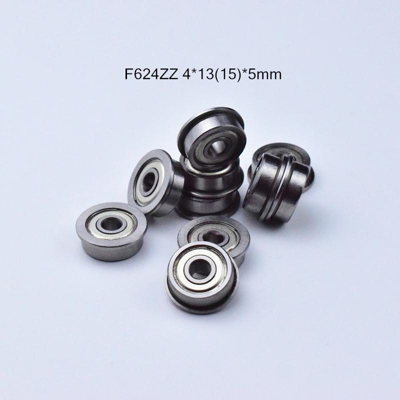 rolamentos F624ZZ flange transporte livre rolamento de aço 624 F624 F624Z F624ZZ 4 * 1315 * 5 mm cromo