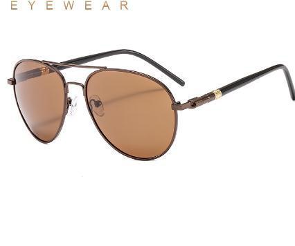 2020 Clássico retro Men óculos polarizados Óculos Marca Lazer UV400 Proteção Metal Frame