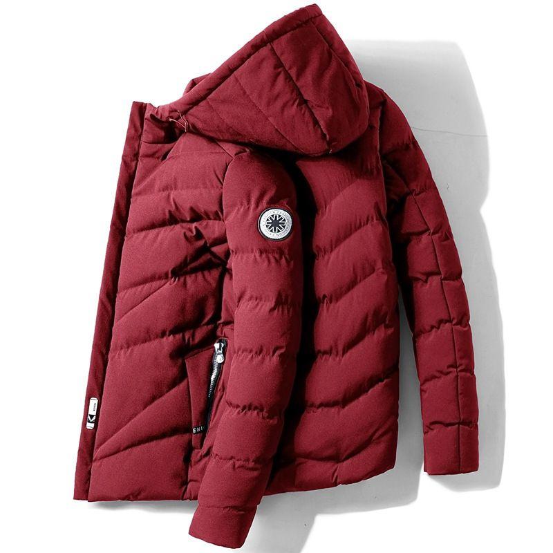 Erkekler Kış Ceket Parka Koreli Coat Erkek Kış Ceket Erkekler Elbise 2020 Parkas Sıcak Tops Artı boyutu Veste Homme Hiver'de ZT4628