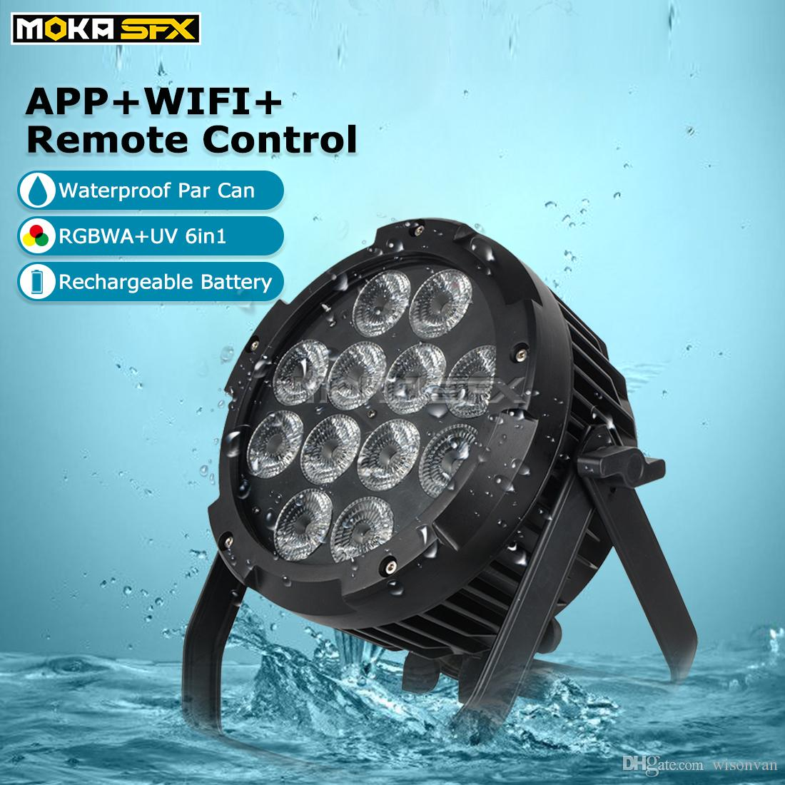 Nuovo 12 * 18W 6in1 effetto impermeabile luce par RGBWA + LED UV batteria senza fili Wifi par del LED Luce della discoteca professionale luce della fase