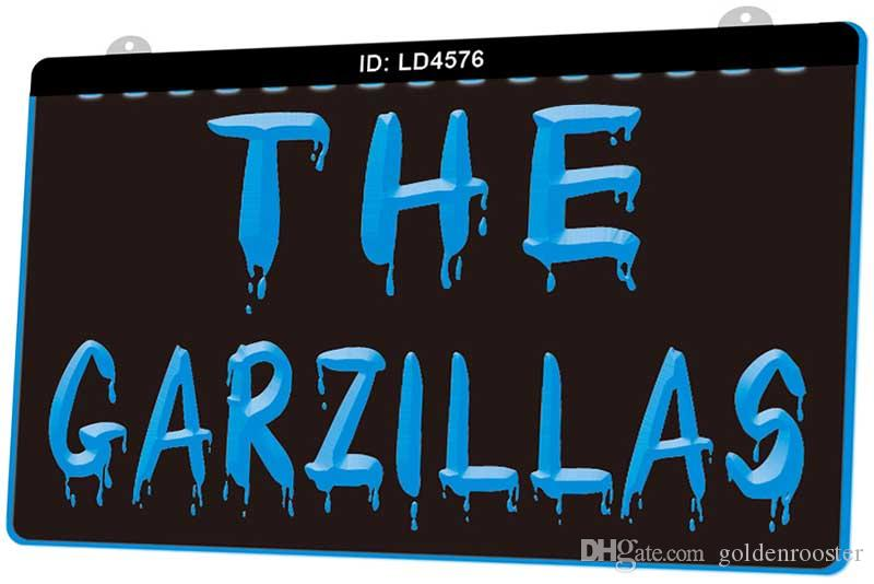 LD4576 The Garzillas New 3D Engraving LED Light Sign Customize on Demand Multiple Color