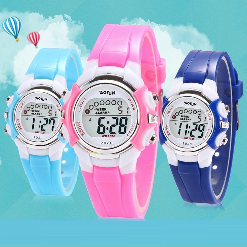 wasserdichtes Design, Kinder, Kinder, Jungen, Mädchen Outdoor-Sport digitale leuchten Uhren Großhandel Mode-Studenten Freizeit Geschenk elektronische Uhr