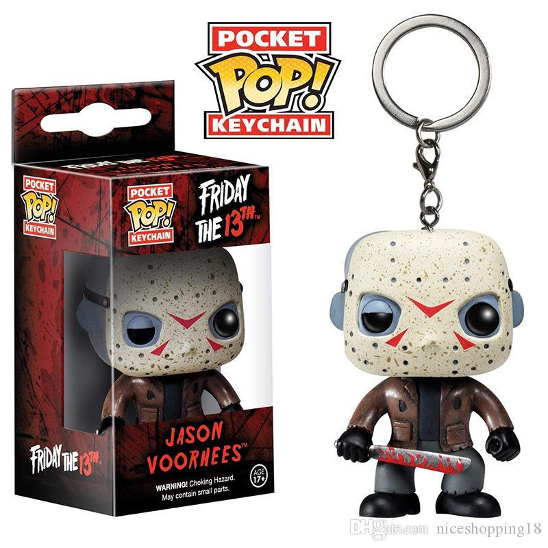 Nicegift Funko Pocket POP Keychain - Friday 13th Jason Valley Vinyl Figure Keyring with Box Toy Gift Good Quality hot
