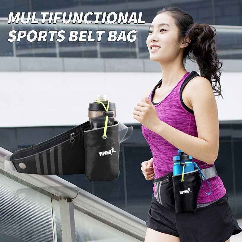 Marathon Sports Correndo Bottle Titular Pacote de Cintura Com Exterior Água GYM Belt Ultra-fina cintura Bag Bolsa de Fitness Fanny caso saco
