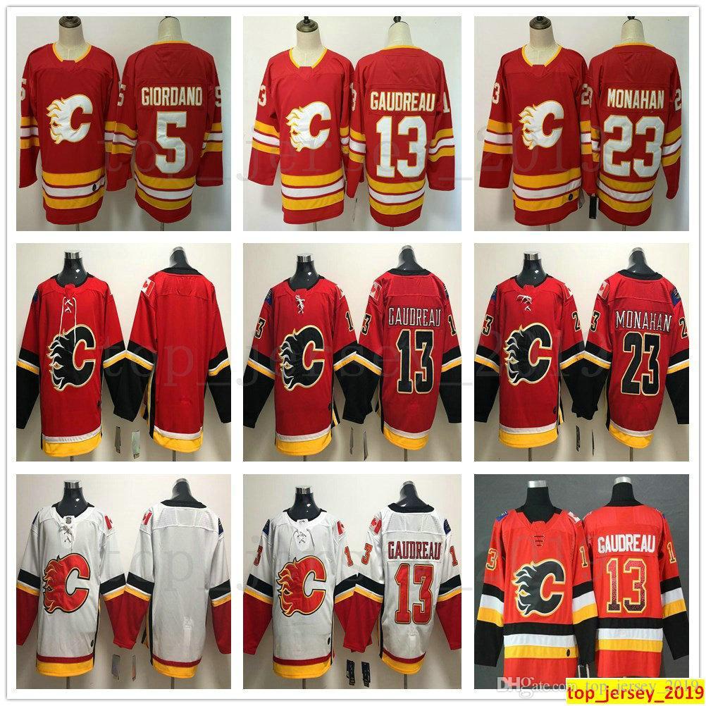 2021 Men Women Kids Youth Calgary Flames Hockey 13 Johnny Gaudreau ...