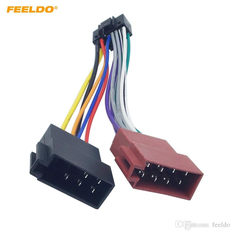 speaker wiring harness adapter 2020 feeldo car stereo radio 16 pin pi100 iso wiring harness  2020 feeldo car stereo radio 16 pin