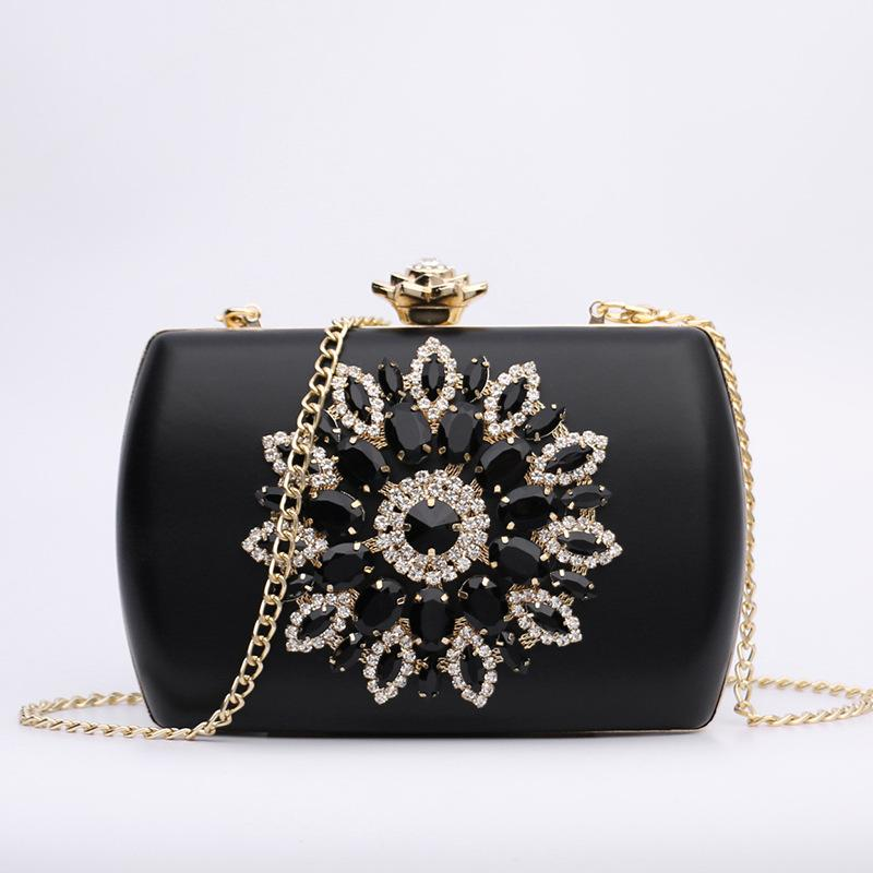 New Women's Bags Diamond Messenger Shoulder Bag Clip Evening Bag Chain Clutch Banquet Bags