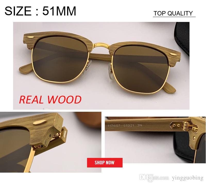 2020 nuovo top di fabbrica di qualità stile di legno occhiali da sole di legno uomini donne UV400 occhiali da sole di bambù di marca occhiali da sole con gafas accessores