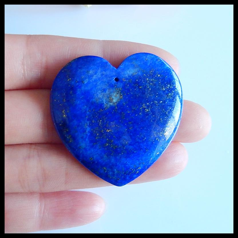 Semi-precious stones fashion jewelry,carved heart shaped Lapis Lazuli fashion pendant 40x40x5mm,15.5g