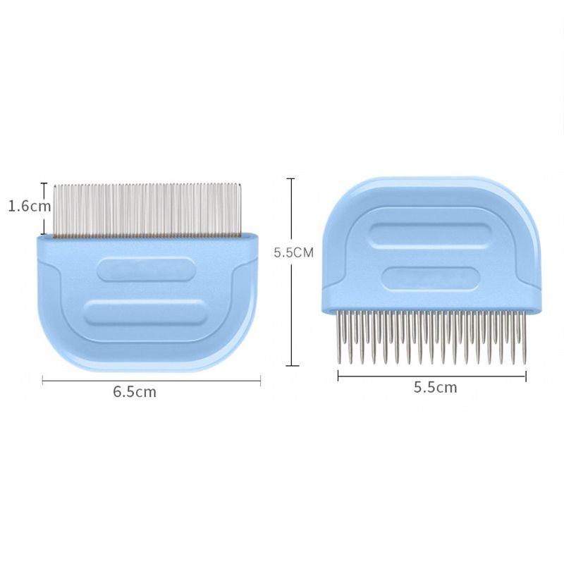 Pet волос Уход Гребенка из нержавеющей стали Cat Flea Comb с пластиковой ручкой Котик Триммер Кисть Cat Стрижка собак