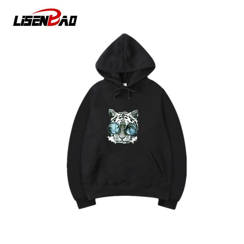 Blank Solid Color Tiger avatar Multicolor hoodies Unisex Hip Hop Swag Sweatshirts Fleece Hooded Women Hoody Male Hoodie Hooded