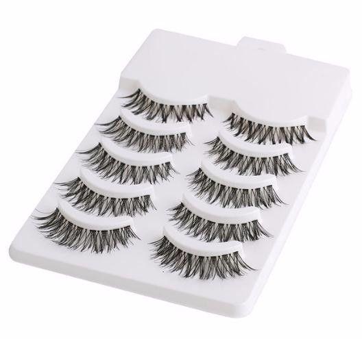 5 Pairs Handmade Mini Half Corner Black False Eyelashes Makeup Tools Natural Eye Lashes Cosmetics Accessories