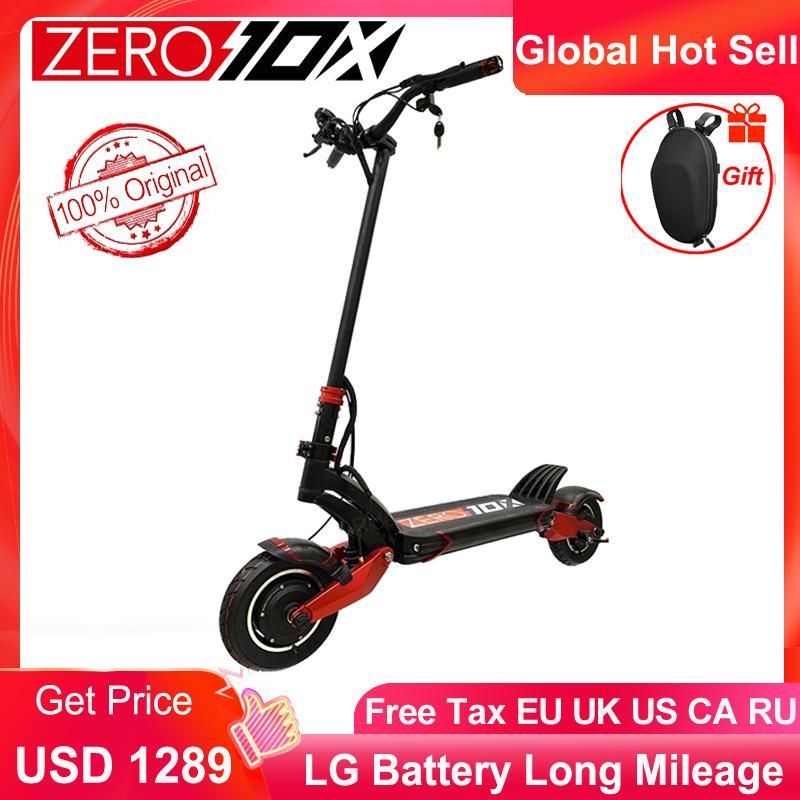 أحدث صفر 10x سكوتر المزدوج محرك كهربائي سكوتر 52V 2000W E-Scooter 65km / ساعة محرك مزدوج سكوتر عالية السرعة