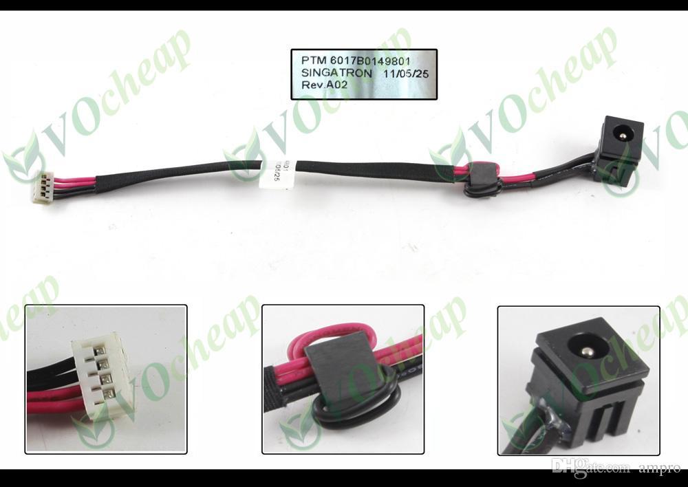 Novas tomadas de alimentação DC Notebook Laptop para Toshiba Satellite A300 A305 A305D carregamento conector de porta de soquete com cabo PJ108 6017B0149801