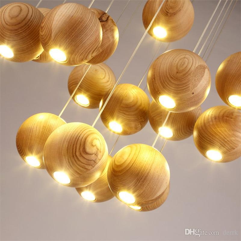 Sfera rotonda Globe Oark Perle Chandelier Light Fixture moderna Nordic scandinavo giapponese lampada Luster Sala da pranzo Hanging