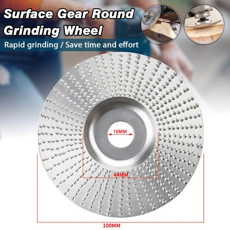 Professional 100mm Diameter Wood Angle Grinder Plane Wheel Abrasive Disc Sanding Carving Tool for Angle Grinder 16mm Bore