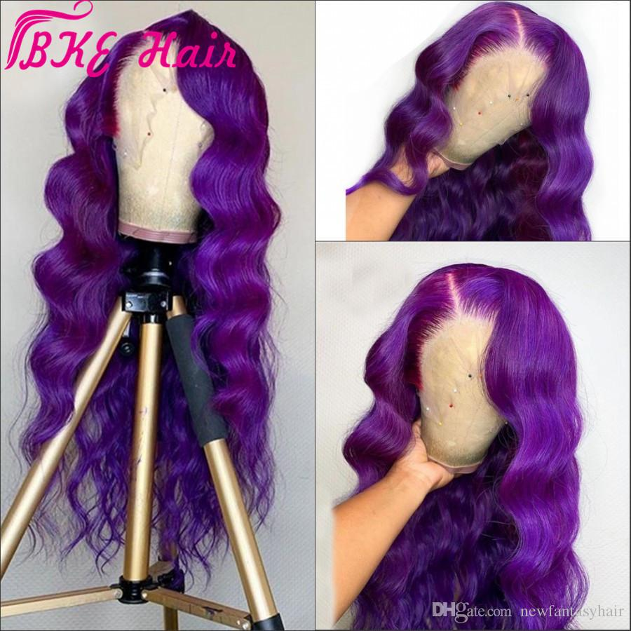 24'' Purple/Pink/blonde Synthetic Lace Front Wig Long Wavy Wigs For Woman cosplay Wig perruque Female Hair