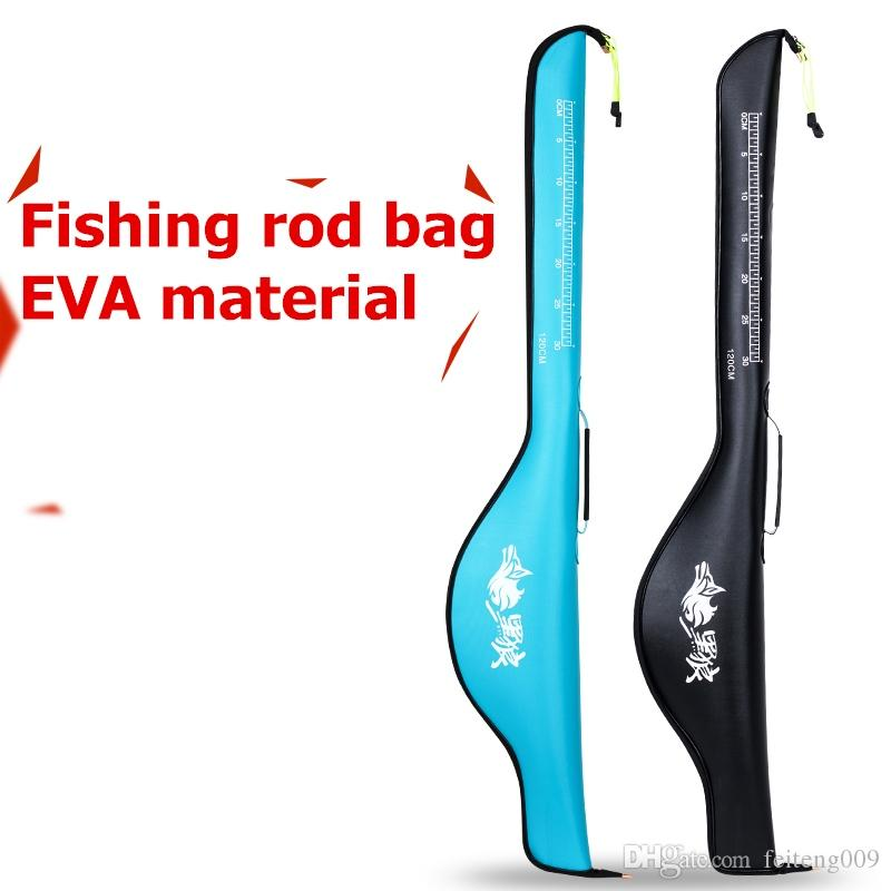 Thickening EVA Material 1.2m Portable Fishing Rod Bags Folding Carrier Fishing Pole Storage Bag Case waterproof fishing package #85179