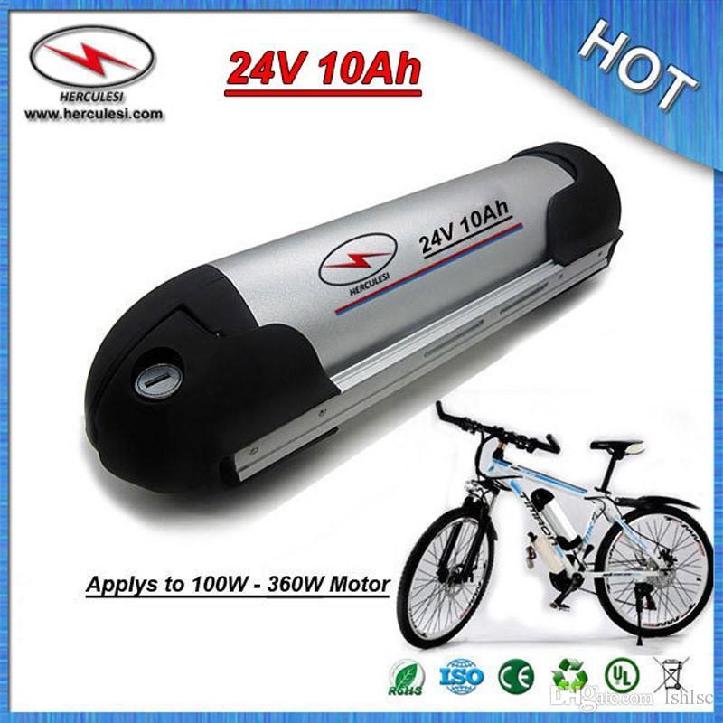 Top Clássico garrafa de água bateria de iões de lítio 24 V 10Ah para Elétrica E bicicleta com 18650 células 15 Amp BMS + Carregador FRETE GRÁTIS
