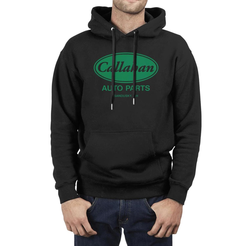 Callahan Auto Parts Mens Miscela pile logo Pullover Felpa con cappuccio a maniche lunghe