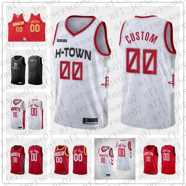 2020 Custom Men\'s women youth Houston Rockets black red white