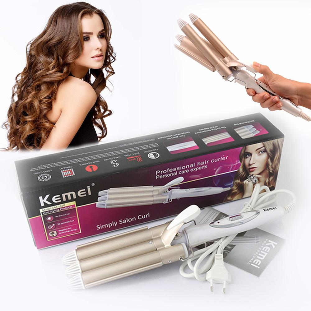 Kemei curling professional hair and styling tool wave curling iron