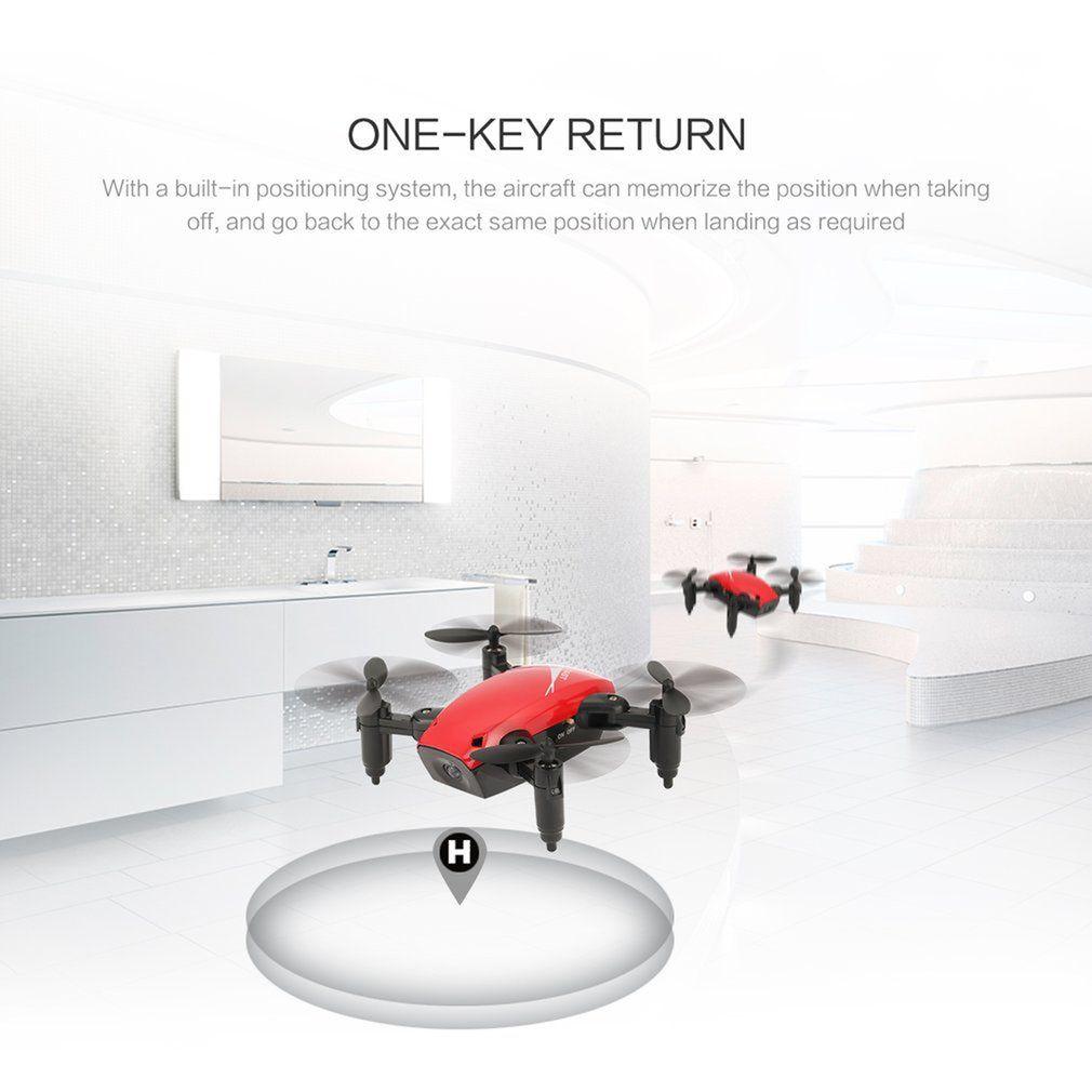 WIFI FPV 0.3MP Kamera 360 Derecesi ile S9W Katlanabilir RC Mini Drone Cep drone Mikro Uçağı RC Helikopter