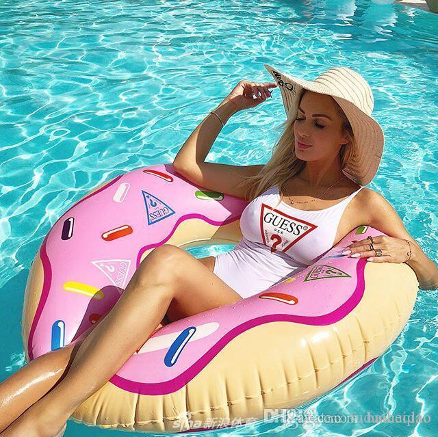 2019 Yaz Seksi Tek parça Bikini İçin Kadınlar Mayo Moda Marka Mayo ile Mektupları Lady Backless Yıkanma Suits 3 Renkler S-XL