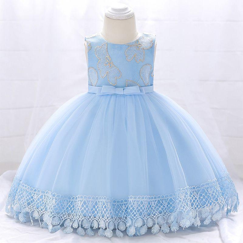 Vêtements D'hiver Bébé Fille Dress 2018 Princesse Baptême Robe Pour Filles Enfants Premier Anniversaire Fille De Mariage Robe 6 12 Mois Y190516