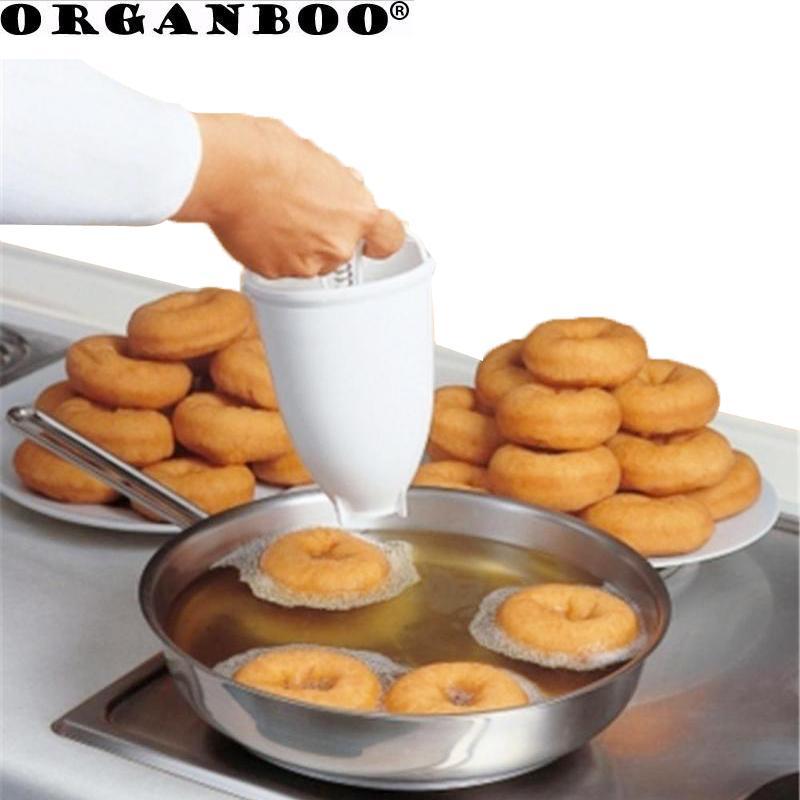ORGANBOO 1pc plastique beignes Distributeur Outils de cuisson Frire Donut moule rapide et facile Portable Waffle Donut