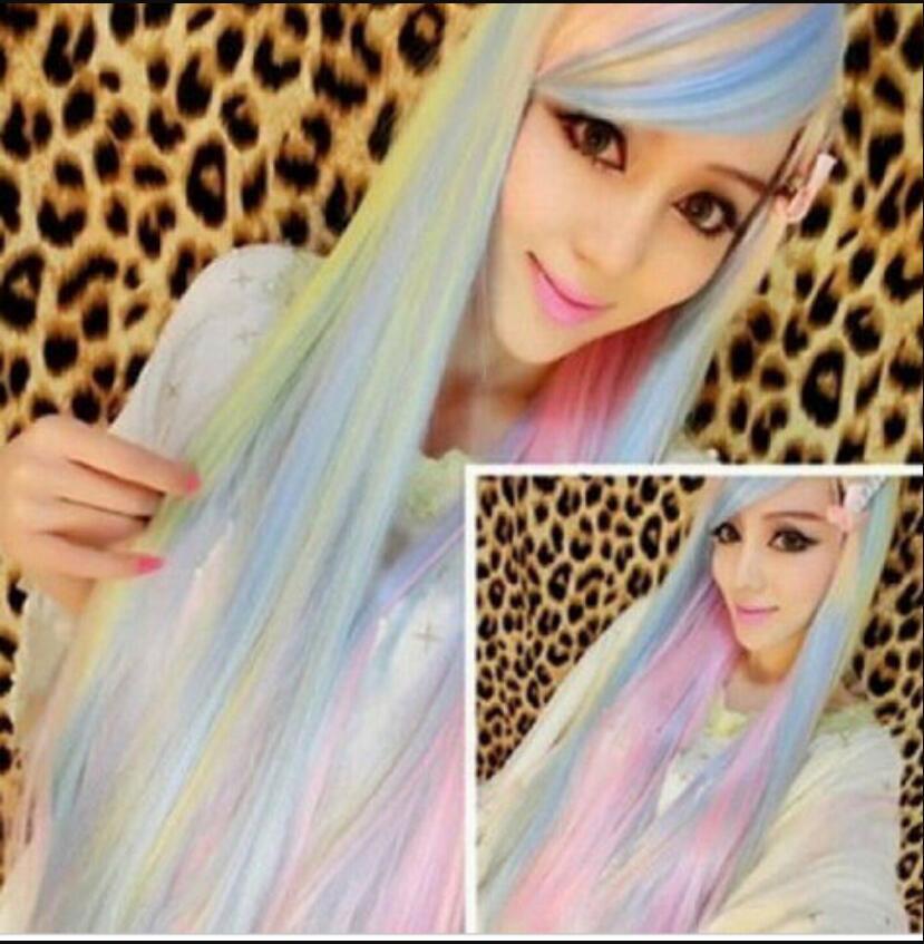 Perruque 1031 +++ Perruques Colorées Perruques Cosplay Perruque Perruque Longue Cheveux Raides