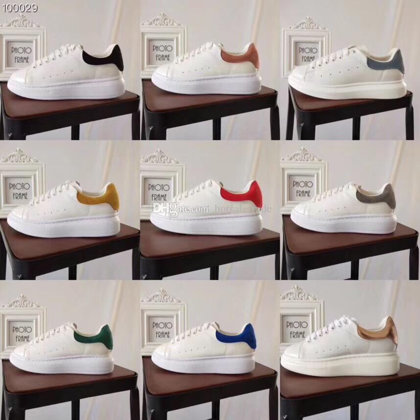 Uomini scarpe casual donne scarpe da tennis superiori di qualità delle scarpe da tennis delle donne degli uomini pattini di cuoio casuali con la scatola, polvere Borse, Fattura