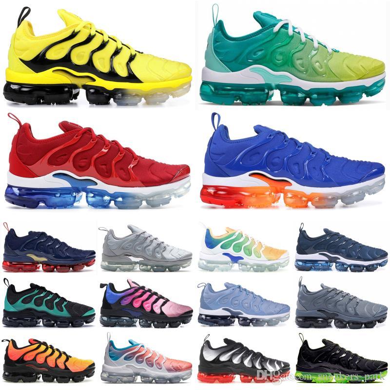 zapatos de diseño triple Racer Universidad Popular Negro Azul Rojo TN Plus hombres blancos psíquico Rosa berenjena Ejecución de las zapatillas de deporte