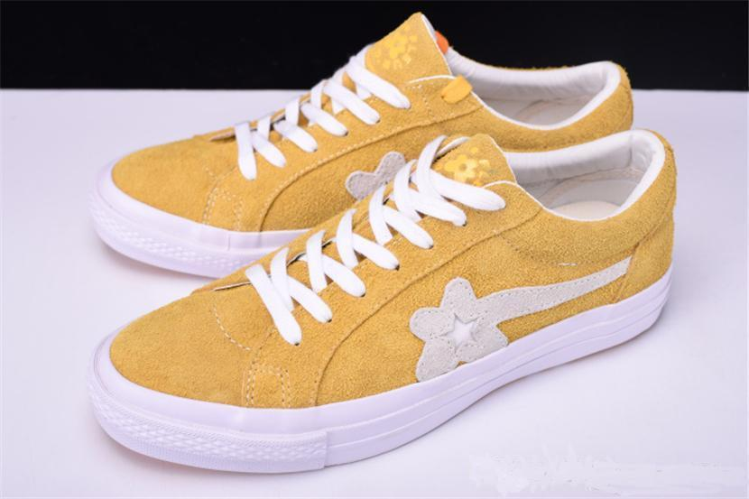 2019 Luxury One Star X Golf Le Fleur Flowers Shoe Women Men Casual Designer Fur Yellow Green Canvas Runni Casual Shoes Sneakers Eur5 5 10 3a Hiking Shoes Prom Shoes From Wuhao9 78 76 Dhgate Com