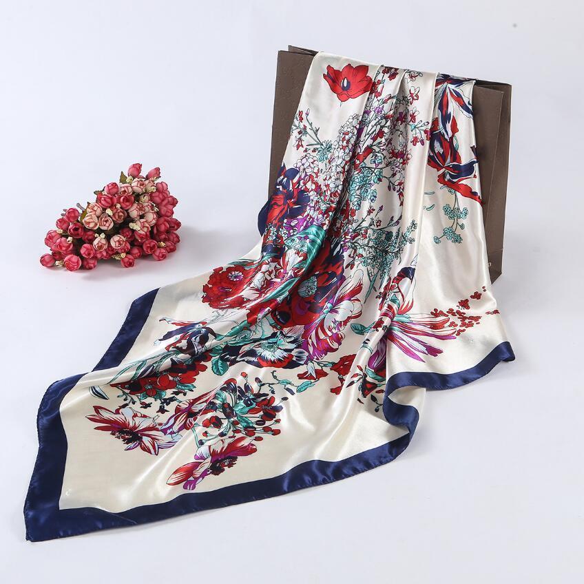 Оптовая продажа-2016 квадратный шелковый шарф для женщин женские шарфы женский хиджаб 90*90 см вентилятор стиль весна осень новая мода