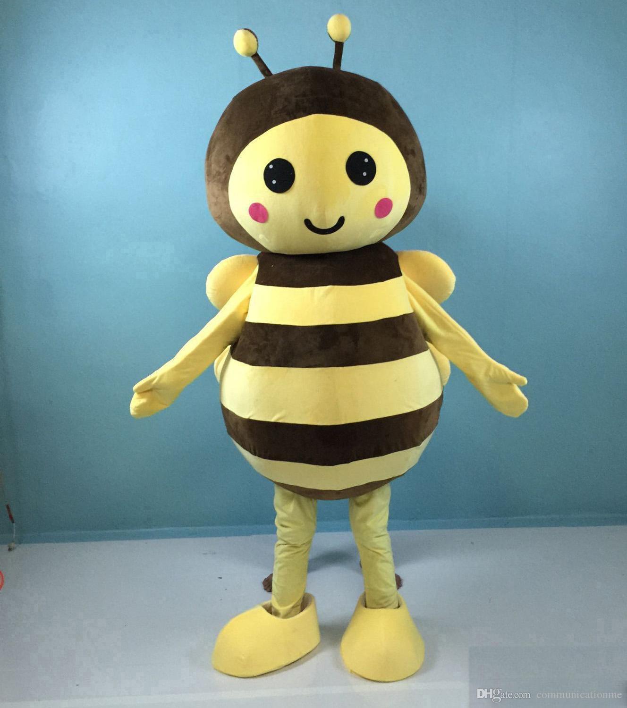 2019 Direktverkauf der Fabrik gelbe Riese Biene Maskottchen Kostüm für Erwachsene zu verkaufen