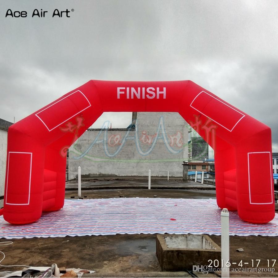 personalizados 4 pernas inflável porta do arco modelo, começar a linha de chegada, arco de pé livre com o ventilador logotipo removível com caixas de etiqueta para o Esporte