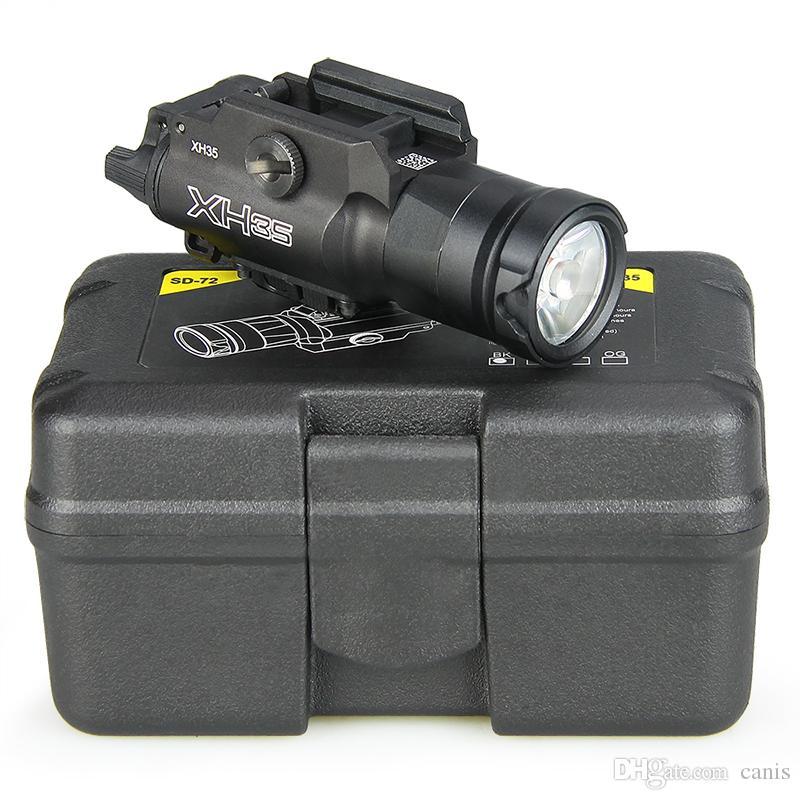 XH35 Shooting Light Tactical Flashlight Airsoft Dual Output Ultra-High White LED Brightness Strobe Adjustment Light CL15-0130