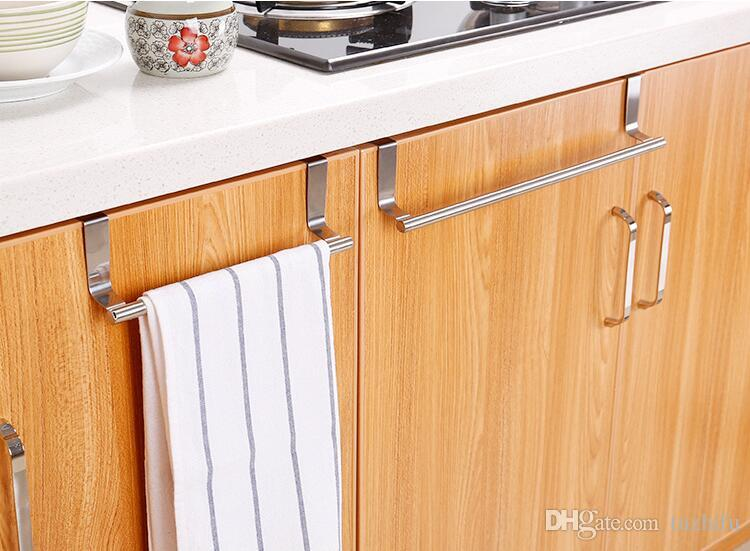 2019 Stainless Steel Towel Bar Holder Kitchen Cabinet Cupboard Door Hanging  Rack Storage Hook Accessories From Tuzhifu, $5.07 | DHgate.Com