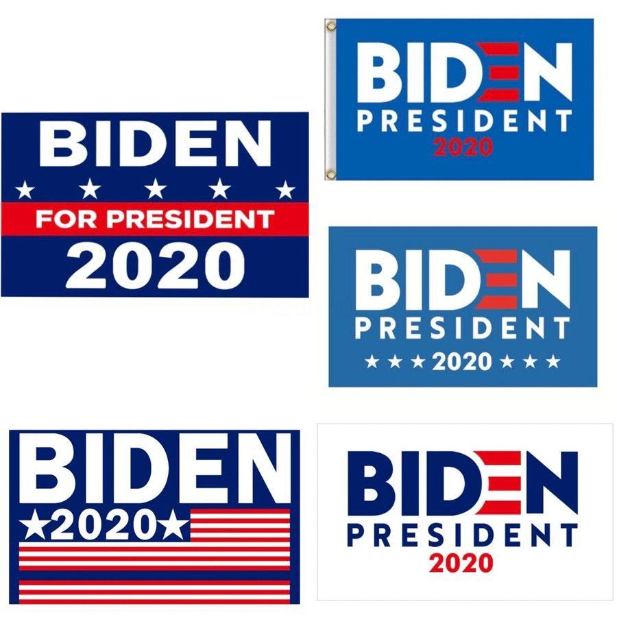 Biden 2020 Hand Held Flag 24 * 70cm para apoiar a eleição Presidente Bandeira Donald Biden bandeira Keep America Great Again Lja2428 # 137