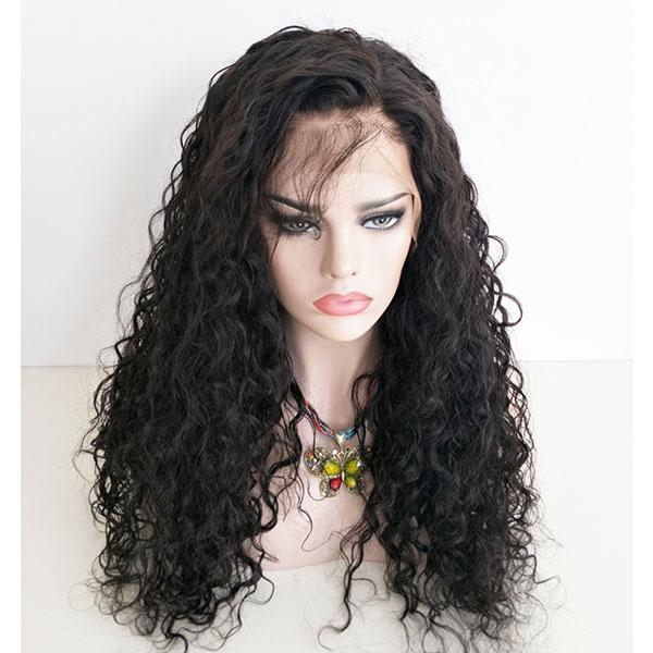 버진 인간의 머리 앞 레이스가 발 물 Wave13X6 깊은 부분 PrePlucked 정면들을 가발을 가진 여자를 위해 아기의 주위에 머리 Angelawigs