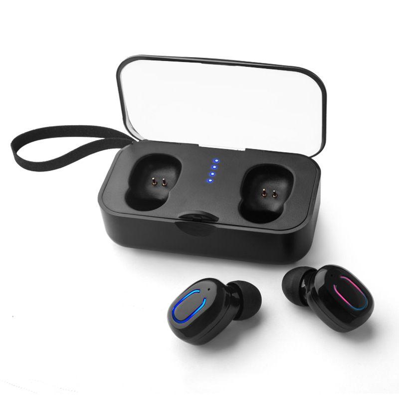 Bluetooth 5.0 TWS T18S 무선 이어폰 무선 스테레오 이어 버드 헤드폰 소음 제거 마이크 무료 배송