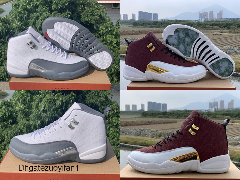 com Box 2019 Mens e Calçados Womens Basketball Sapatilhas 12S XII Dark Gray jogo de bola para homens Sports Shoes