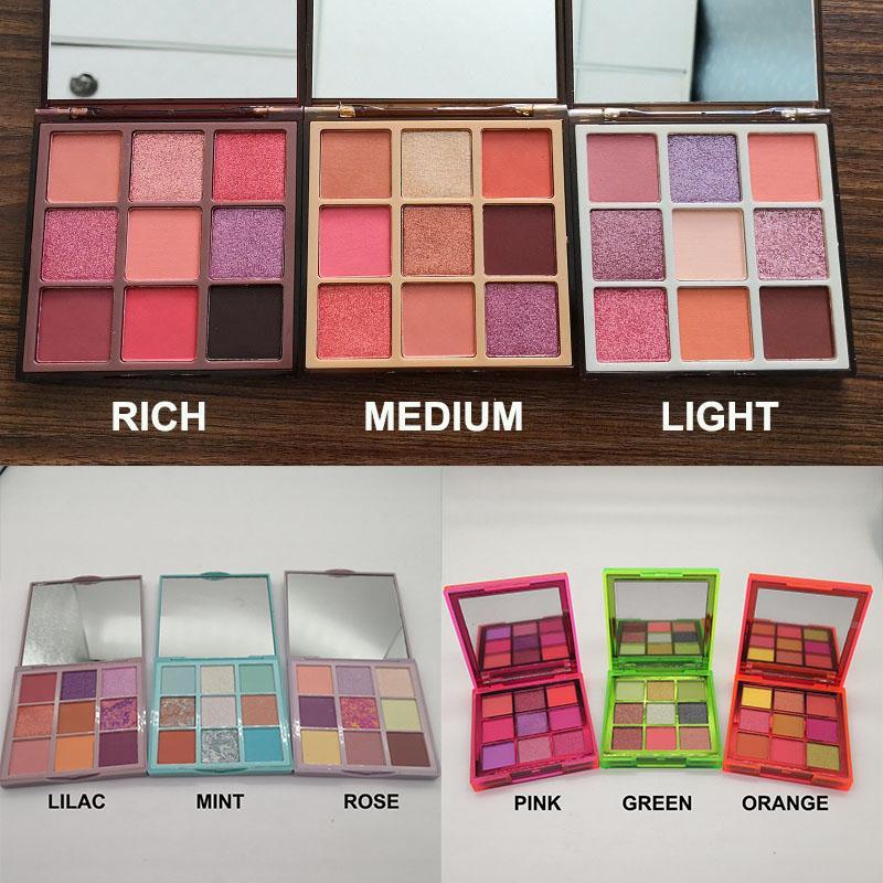 Brand New Make-up Augen Schönheit Palette Mini 9 Farben Lidschatten-Paletten 3 Verschiedene Modelle Freies Verschiffen