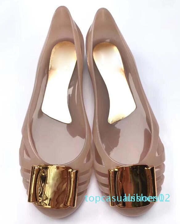 ballet plana das mulheres New chegar Top qualidade simples genuína top ouro couro diamante rede de designer marca de moda mulheres sheos ocasional T12
